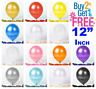"12"" METALLIC Pearlised High Quality LATEX 20 BALLOONS (Decoration/Brthday/Party)"