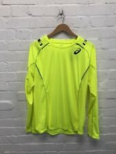 Asics Men's Running Long Sleeve Top Impact T-Shirt - Yellow - New