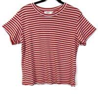 New Stitch Fix | Katie Sturino Red & White Stripe Tee - Size L - New Without Tag