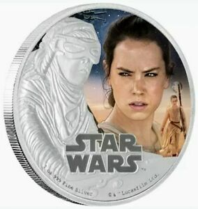 2016 NIUE STAR WARS THE FORCE AWAKENS REY Colorized 1oz .999 Proof Silver Coin