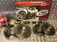 BREMBO FRONT & REAR DRILLED & GROOVED DISCS & PADS AUDI TT 1.8T QUATTRO 225