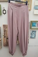 RIVER ISLAND DRY ROSE PINK ELASTICATED WAIST&CUFF JOGGER HAREM TROUSER  8 TO 14