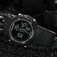 PANARS Men's Digital Sports Alarm Military Pedometer Chrono Quartz Wrist Watch