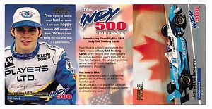 1996 SKYBOX RACING INDY 500 JACQUES VILLENEUVE PROMO CARD