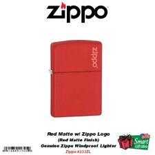 Zippo Red Matte Lighter w/Zippo Logo, USA Classic Genuine Windproof #233ZL