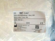 10 Paquet Sarstedt 72.607 Mikro-Schraubröhre 1,5 ML Pp Sans Stehrand 500 Pièce