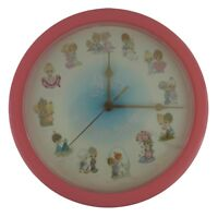 Precious Moments Love Is Sharing Pink Wall Clock