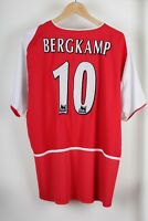 Arsenal 2002/2004 Bergkamp #10 Home Nike O2 Football Shirt Jersey Size L