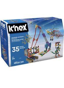 12418 K'Nex IMAGINE - 35 Model Ultimate Building Set with 480 pc !!! NEW !!!