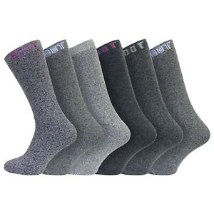 Men's 6 Pairs Cotton Walking, Work, Outdoor BOOT Socks Size 6-11 UK, 39-45 Eur
