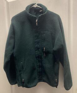 Patagonia Synchilla Green Full Zip Fleece Jacket Size Medium