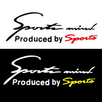 Sports Mind Logo For Racing SUV Car Vinyl Reflective Decal Graphic Sticker Red