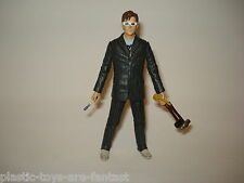 "DOCTOR WHO 10th DR 5"" FIGURE 3D GLASSES SUIT WHITE SHOES Screwdriver Hammer VGC"