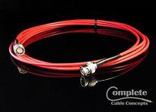 New 30' Red Belden 1855A, Mini RG59 HDTV SDI/HD, Digital Video BNC Male Cable
