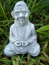 """Latex only mold meditating gnome buddha mould 5""""H x 3.5""""W"""