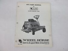 Wheel Horse 1975 Parts Manual for A-65 Electric Tractor