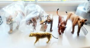 Mixed Big Cat Animal Play Figures Tiger Lion Cheetah Safari PNSO Papo Schleich