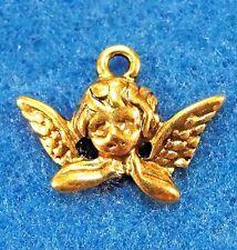 50Pcs. WHOLESALE Tibetan Antique Gold ANGEL Charms Pendants Earring Drops Q1090