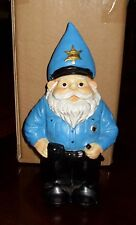 GNOME POLICE OFFICER NOVELTY GARDEN STATUE LAWN OR PATIO DECOR BRAND NEW
