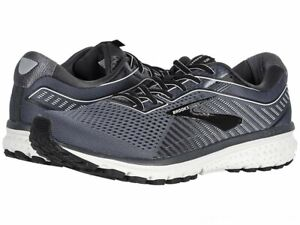 Brooks Ghost 12 Black-Pearl-Oyster Men's Running Shoes - NEW - Choose Size