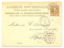 DUTCH INDIES-1892 =NED INDIE VIA BRINDISI = (R 71) KR= WELTEVREDEN = >>>>