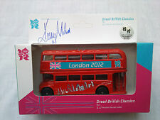 London 2012 Olympics Signed Kelly Holmes Ltd Edition Die Cast Routemaster Bus