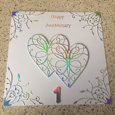 Handmade Paper Wedding Anniversary card Happy 1st Wedding Anniversary