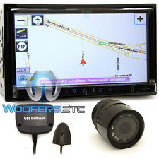 "pkg FARENHEIT F-761NX 7"" GPS CD MP3 USB BLUETOOTH NAVIGATION DOUBLE DIN + CAMERA"