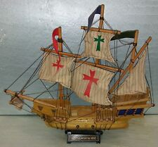 """7DD52 MODEL SHIP: SANTA MARIA, 19-1/2"""" OVERALL LENGTH, DUSTY FROM DISPLAY, GC"""