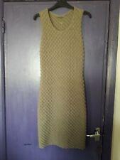 cd132b2893b8 RIANI DARK BEIGE TEXTURED KNITTED TUBE DRESS SMALL