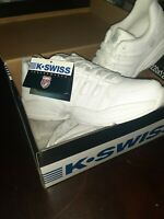 K Swiss Womens Shoes Size 9 Medium White Low Top Brand New In The Box W Tags
