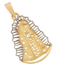Medalla de La Virgen de Guadalupe Para Ninos en Oro de 14 Kilates Solido