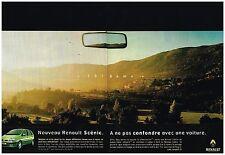 Publicité Advertising 1999 (2 pages) Nouveau Renault Scénic