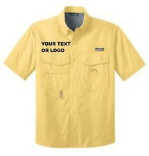 Eddie Bauer Short Sleeve Fishing Shirt(Embroidered)