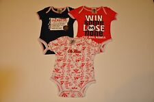 NWOT Ole Miss Rebels Boys Infant Bodysuit Creeper Baby Onesie Gerber Romper
