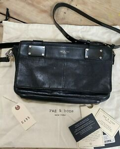 Rag & Bone Pilot Clutch Black Smooth leather bag Crossbody Medium
