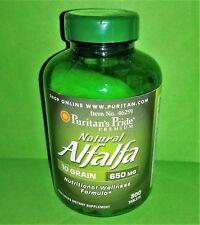 Alfalfa Natural 650 mg 300 tabletas PURITAN´S PRIDE Menopausia Bienestar General