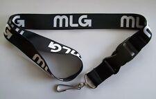 MLG Major League Gaming Lanyard ID Badge Holder Key Chain Detachable Bottom NEW