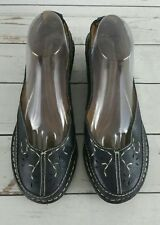 Naturalizer Black Leather Flats Women's 9.5