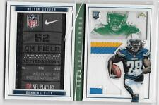 Melvin Gordon 2015 Panini Playbook ROOKIE FOLLETO Etiqueta con parche & 3 color