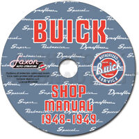 1948 1949 Buick Shop Manual CD Roadmaster Special Super Repair Service