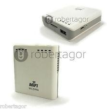 WIRELESS MODEM WIFI ROUTER 3G PORTATILE POWERBANK 5600mA SUPPORTA SIM WCDMA UMTS