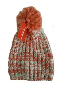 Hanna Andersson Girl's  Beanie Hat M  3-6 Pompom Chunky knit NEW