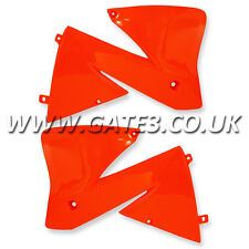 KTM 380EXC EXC 380 2001-2002 ORANGE RADIATOR RAD SCOOPS ENDURO TRAIL PLASTICS