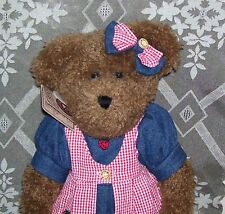 """Nwt 15"""" Retired Stuffed Anuimal Toy Boyds Bear Mary Ellen Patchbeary 912643"""