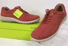 Hotter Tone Spice (orange Coral) Nubuck Leather Lace Up Oxford Type Women's Sz 9
