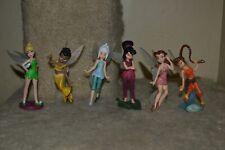 Disney Fairies figures Periwinkle Fawn Iridessa Vidia Rosetta lot of 6