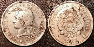 Argentina - Republic - 20 Centavos Silver 1883! Km# 27