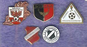 5 Nadeln von Sportvereinen aus Ostdeutschland