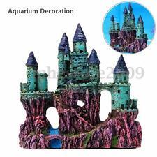 Resin Ancient Europe Castle View Aquarium Ornament  View Fish Tank Decoration